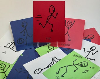 Gross Motor Action Activity Cards - set of 16