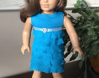"Ruffle dress for 18"" dolls"