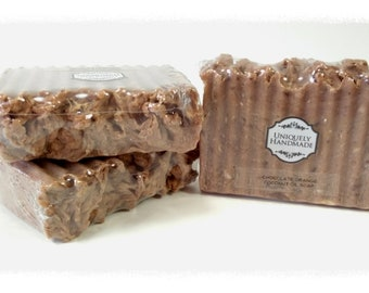 Chocolate orange coconut oil and cocoa butter old fashioned cold process soap