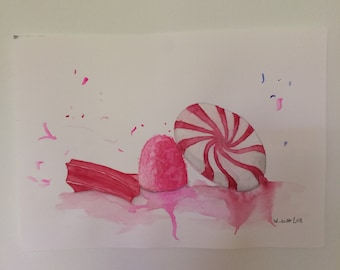 Watercolor painting: CANDY