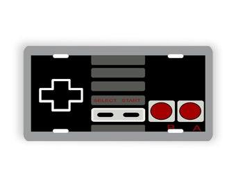 Retro Gamer Controller Vanity License Plate For Auto