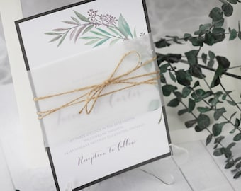 Olive Branch Invitations - Tuscan Wedding Invitations - Vineyard Wedding - Twine Wedding Invitations - Rustic Wedding Invitations