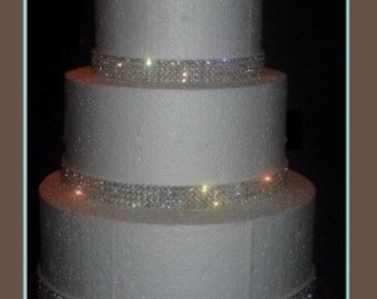 Crystal Diamante rhinestone ribbon flexible trim for cakes AB or CLEAR  1yrd  with Superior sparkle