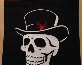 He-Skull Black Canvas Tote Bag