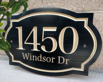 House Number Engraved Plaque, Carved Number, Housewarming Gift, Realtor Gift, Address Sign, House Number, Number Plaque, carved wood sign