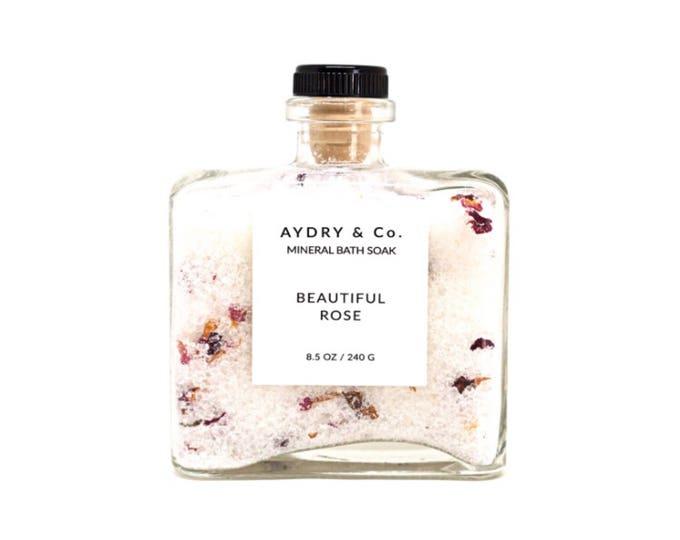 Beautiful Rose   Mineral Bath Soak