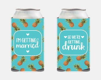 Tropical Bachelorette Party Favors Pineapple Bachelorette Party Favors Pineapple Bachelorette Party Gift Bridesmaids Gifts Turquoise