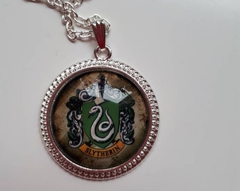 Slytherin silver pendant snake draco voldemort charm