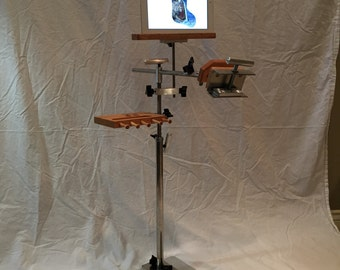 Stainless Steel Floor Stand with Tablet/Pattern Holder