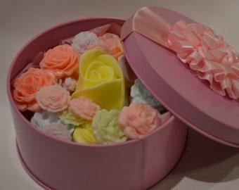 Tin of Flower Soaps