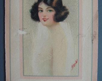 Vintage 1930s/30s Art Deco SOAP LEAVES BOOKLET Flapper Boudoir