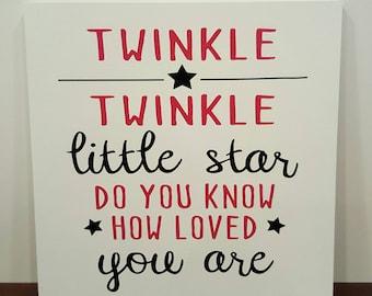 Twinkle Twinkle Little Star Nursery Sign; Nursery Wall Art; Nursery Sign; Baby Room