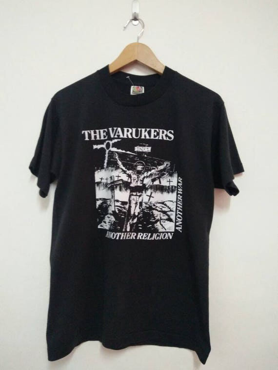 War Varukers shirt Religion beat Punk shirt Another 90's band Hardcore Vintage The D Vintage Another t punk punk UK Vintage qgOXw4P