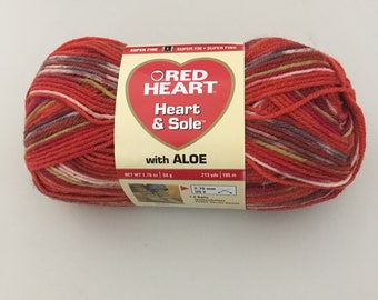 Red Heart Heart & Sole with Aloe Yarn - Fire