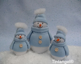 Winter Guests: Snowman, make one big or two small. DIY kit