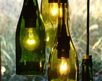 Cascading Wine Bottle Chandelier