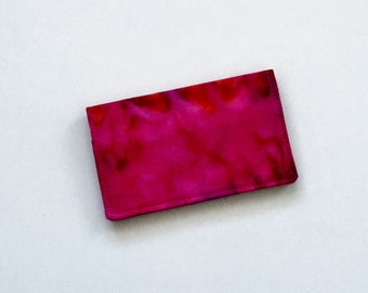 Pink Business Card Holder, Fuchsia Business Card Holder, Batik Business Card Holder, ID Wallet, Business Card Case, Gift Card Holder