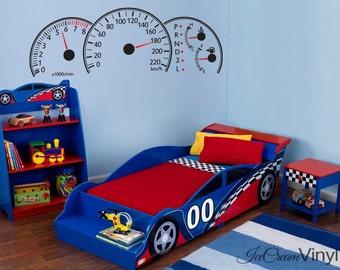 Car Decal | Race Car Wall Decal | Vinyl Wall Decal | Race Car Bedroom | Nursery Wall Decal