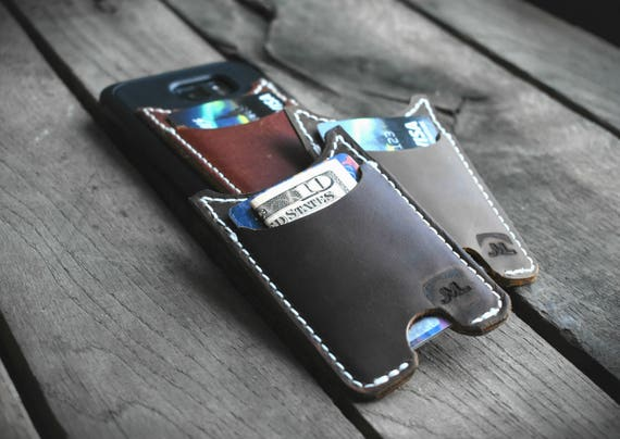 Phone Wallet, Stick On Phone Wallet, Made In Alaska, Leather Wallet minimalist