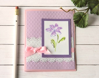 Greeting Cards- Birthday Wishes - Floral Birthday Card - Birthday Money Gifts - Gift Card Holders - Handmade Cards - Stampin Up Cards