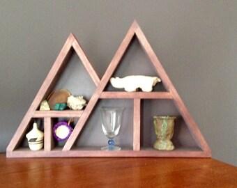 Rustic Triangle Wall Shelf