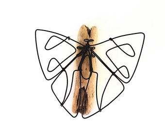 Butterfly Wire Sculpture, Wire Art, Minimal Art, 193216412