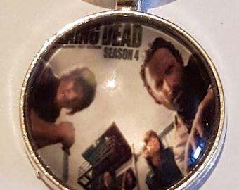 The Walking dead silver plated key chain