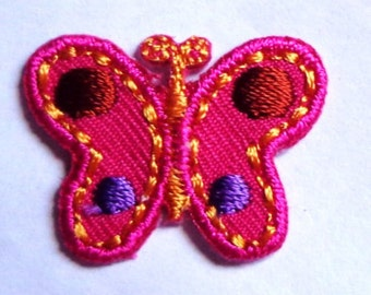 iron on applique-BUTTERFLY 1 x 3/4 inch