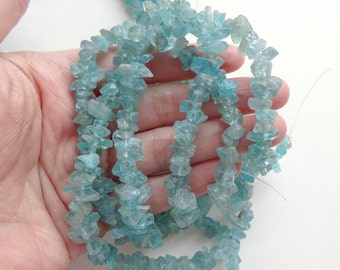 "Rough Raw Unpolished Apatite Nugget Chip Beads 7-9 mm One 15.5"" Strand N2762"