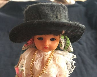 Vintage Portuguese Doll from the Algarve Region, Wearing Traditional Costume - 1960