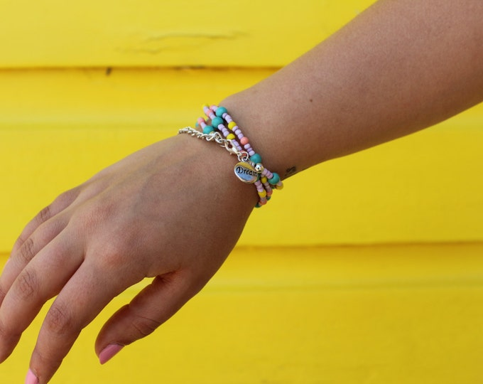 Pastel Wrap Necklace/Bracelet.