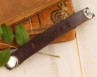 Children's Bracelet, Custom Handmade Leather