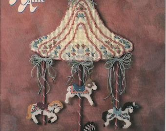 Plastic Canvas Carousel Menagerie - Annie's Attic - Vintage Pattern