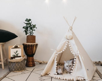 dog bedroom furniture. Cat Bed With A Matching Pompom Pad, Dog Bed, Pet Teepee, Bedroom Furniture O