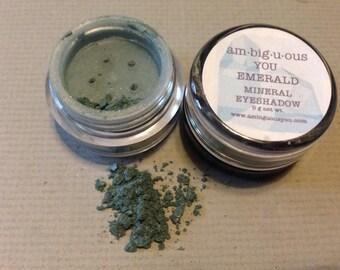 Emerald Mineral Eyeshadow- All Natural/Vegan