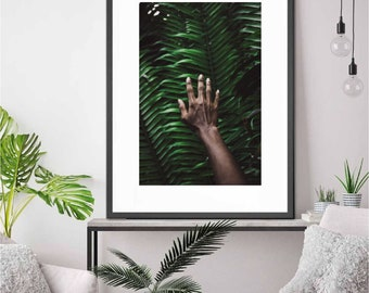 Hand & Plant Art Print • Plant, Hand, Kubitees, Kubitees Art, Art Print, Home Decor, Bedroom Decor, Nature, Nature Prints, Digital Download