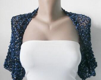 Blue Bolero Shrug-Blue Bolero-Blue Shrug-Blue Wedding Bolero-Blue Wedding Bolero-Blue Bridal Shrug-Bridesmaid Bolero-Bridesmaid Shrug