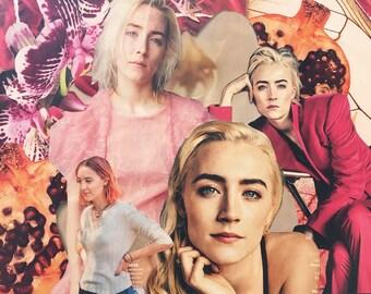 Saoirse Ronan Collage Print