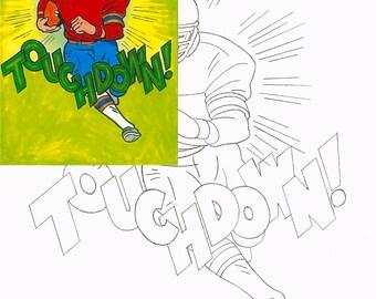Football, Watercolor painting kit