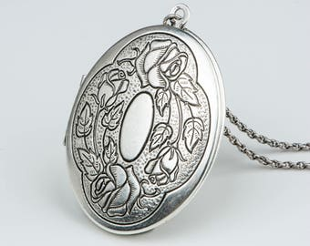 Large locket pendant etsy mozeypictures Image collections