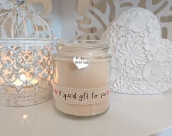 Good Luck (pink a special gift for you) Scented Soy Candle Gift