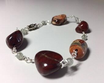 Jasper & Tourmaline Quartz Bracelet