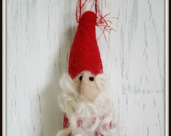 Santa Claus Needle Felted Ornament