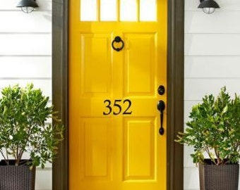 Attractive House Number Decal U2022 Street Number On Your House Front Door Adds Curb  Appeal   House Address Number Door Decal Spring Decor Made In USA