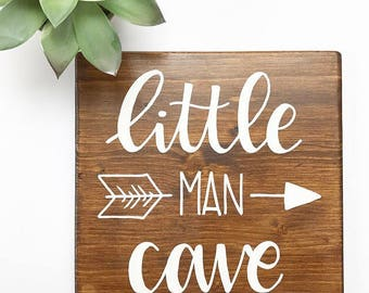 Little man cave - recycled wood sign