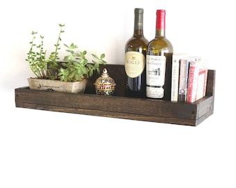 "24"" Floating Shelf | Rustic Wall Shelf | Floating Shelves | Wood Wall Shelf | Wall Mounted Storage Shelves"