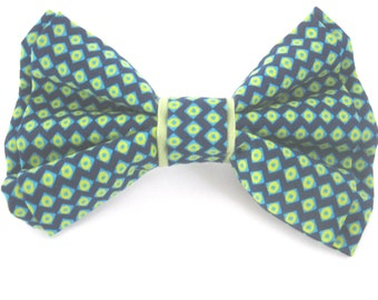 dog bow tie ,blue and green bow tie for dog ,dog collar bow tie ,removable dog bow