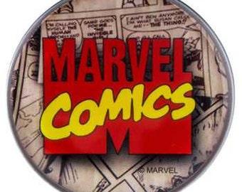 NEW 2 Marvel Comics Logo Knob Pull Handle