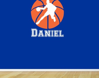 Basketball Wall Decal Personalized Name