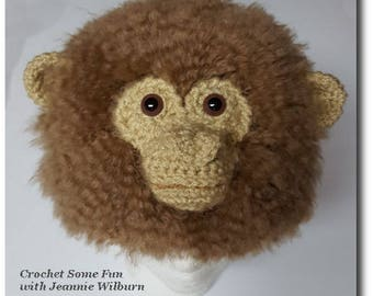 Monkey Hat Crochet Pattern